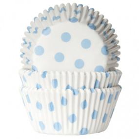 Formas Brancas Bolinhas Azuis - Conj. 50