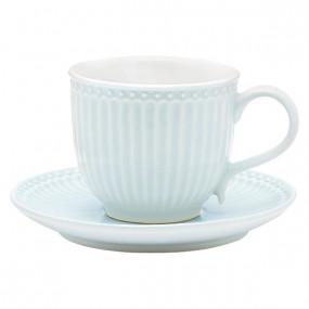Greengate Conj. Chávena + Pires Alice Pale Blue
