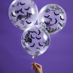 Balões Confetis Morcegos conj. 5