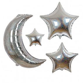 Balões Lua e Estrelas