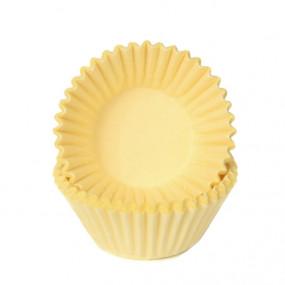 100 Forminhas Brigadeiro Amarelo Pastel