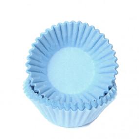 100 Forminhas Brigadeiro Azul Pastel