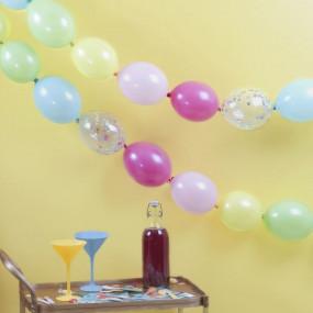 Grinalda Balões Confetis