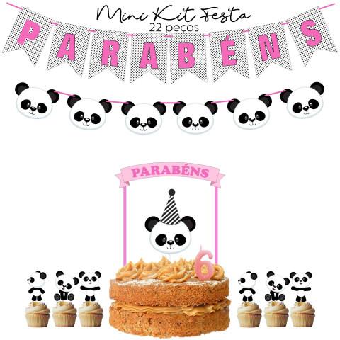 Kit Festa Panda Rosa