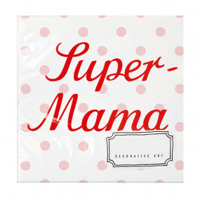Guardanapos Super Mama