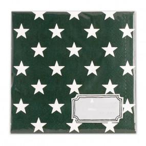 Guardanapos Verde Estrelas