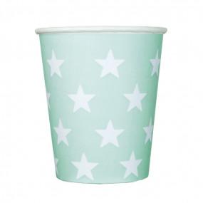 Copos Verde Agua Estrelas