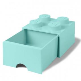 Caixa Lego Verde Agua Gaveta M