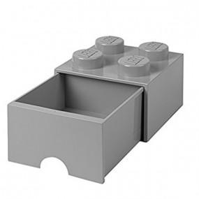 Caixa Lego Gaveta Cinza M