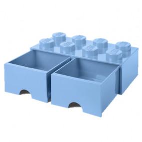 Caixa Lego Gaveta Azul Claro Grande