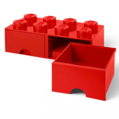 Caixa Lego Vermelha Gavetas Grande