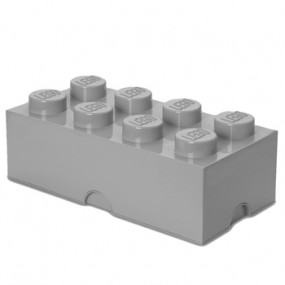 Caixa Lego Cinza Grande