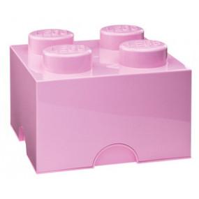 Caixa Lego Rosa Claro M