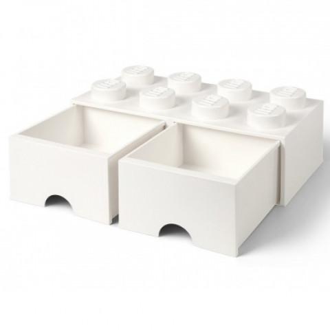 Caixa Lego Gavetas Branca Grande