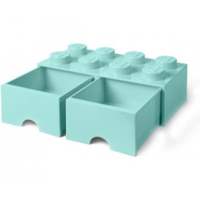 Caixa Lego Gaveta Aqua Grande
