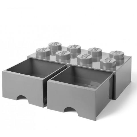 Caixa Lego Gavetas Cinza Grande