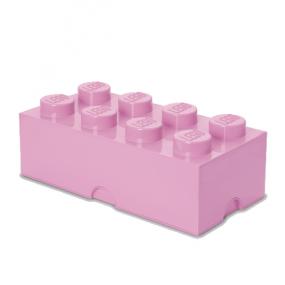 Caixa Lego Rosa Claro Grande