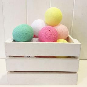 Grinalda Cotton Balls White Colors 10 Bolas
