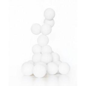 Grinalda Cotton Balls Branca 10 Bolas