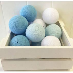 Grinalda Cotton Balls Blue 10 Bolas