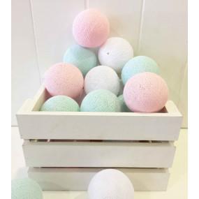 Grinalda Cotton Balls Pastel 10 Bolas