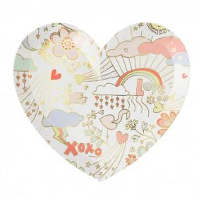 Pratos Coração Doodle