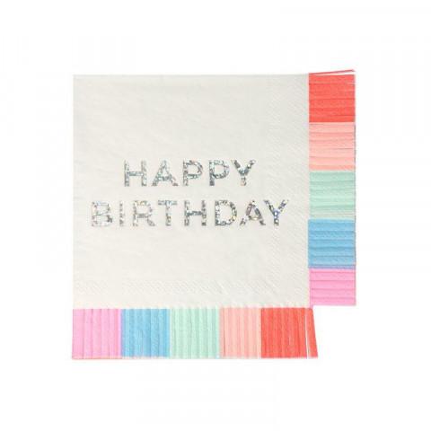 Guardanapos Happy Birthday Franjas