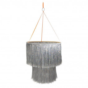 Chandelier Silver Tinsel