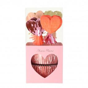 Kit Cupcakes Corações