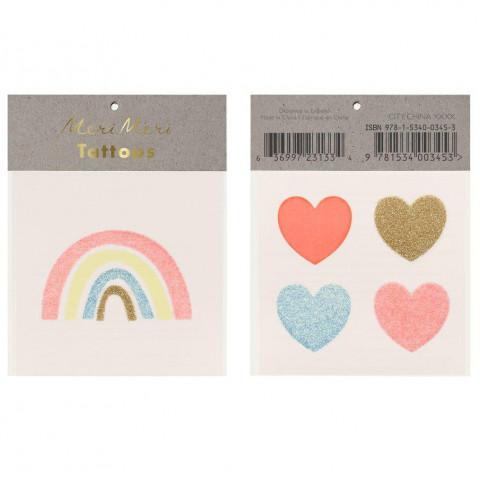 Tatuagens Rainbows Corações