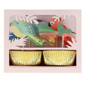 Kit Cupcakes Tropical Pássaros