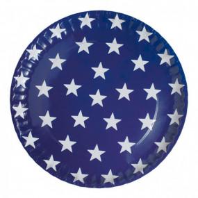 Pratos Azuis Estrelas