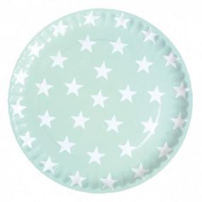 Pratos Verde Agua Estrelas