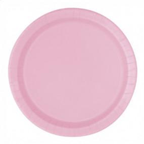 16 Pratos Rosa Claro 22cm