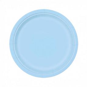 8 Pratos Azul Claro 18cm