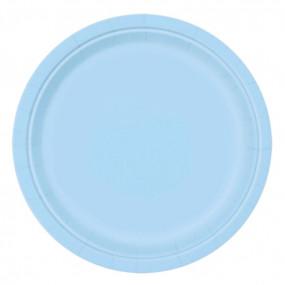 8 Pratos Azul Claro 23cm