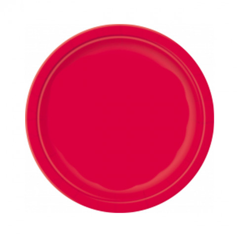 8 Pratos Vermelhos 18cm