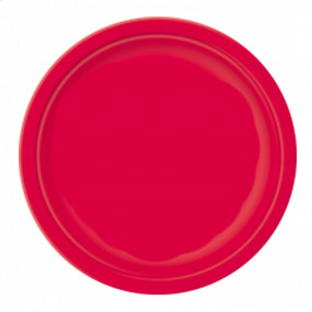 8 Pratos Vermelhos 23cm