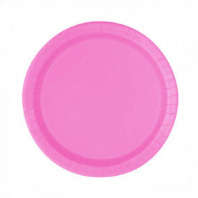 8 Pratos Rosa Hot 18cm