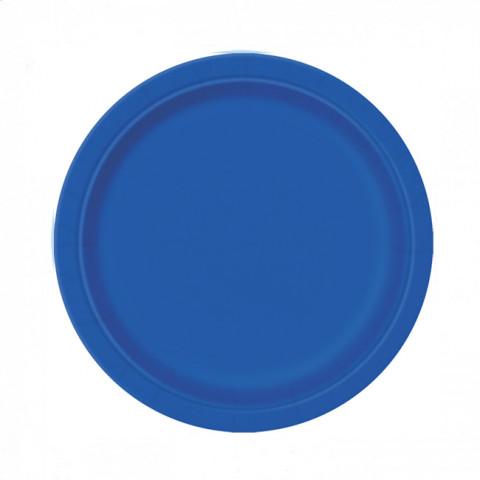 8 Pratos Azul Royal 18cm