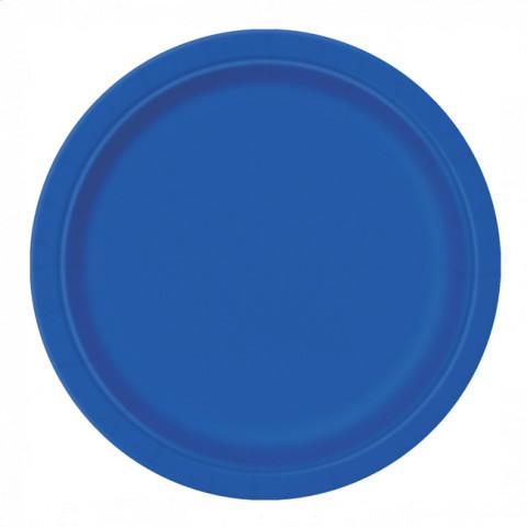 8 Pratos Azul Royal 23cm