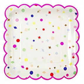 Pratos Confetis 23cm