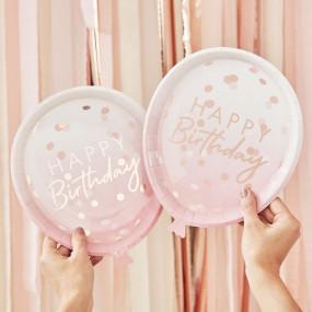 Pratos Rosa Balão