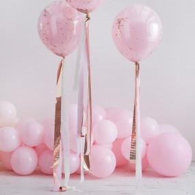 Kit Fitas para Balões Rosa e Rosagold