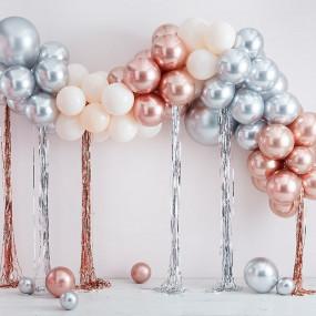 Arco Balões Metálicos e Fitas