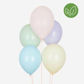 10 Balões Pastel BIO