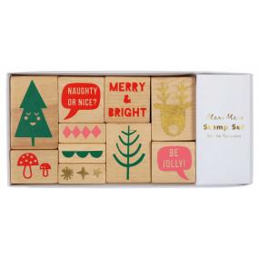Set Carimbos Natal