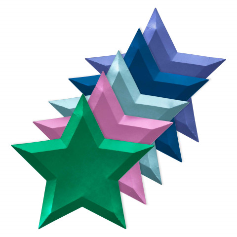 Pratos Estrelas Metalic