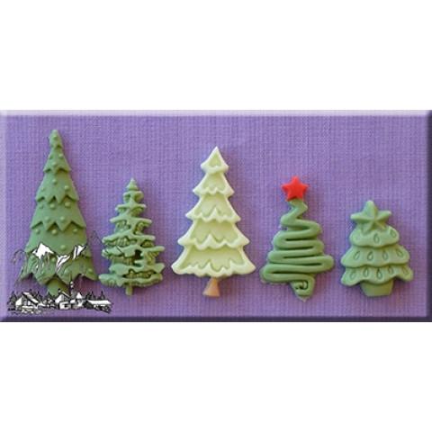Molde Arvores Natal
