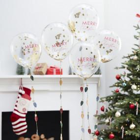 Balões MERRY CHRISTMAS - conj.5